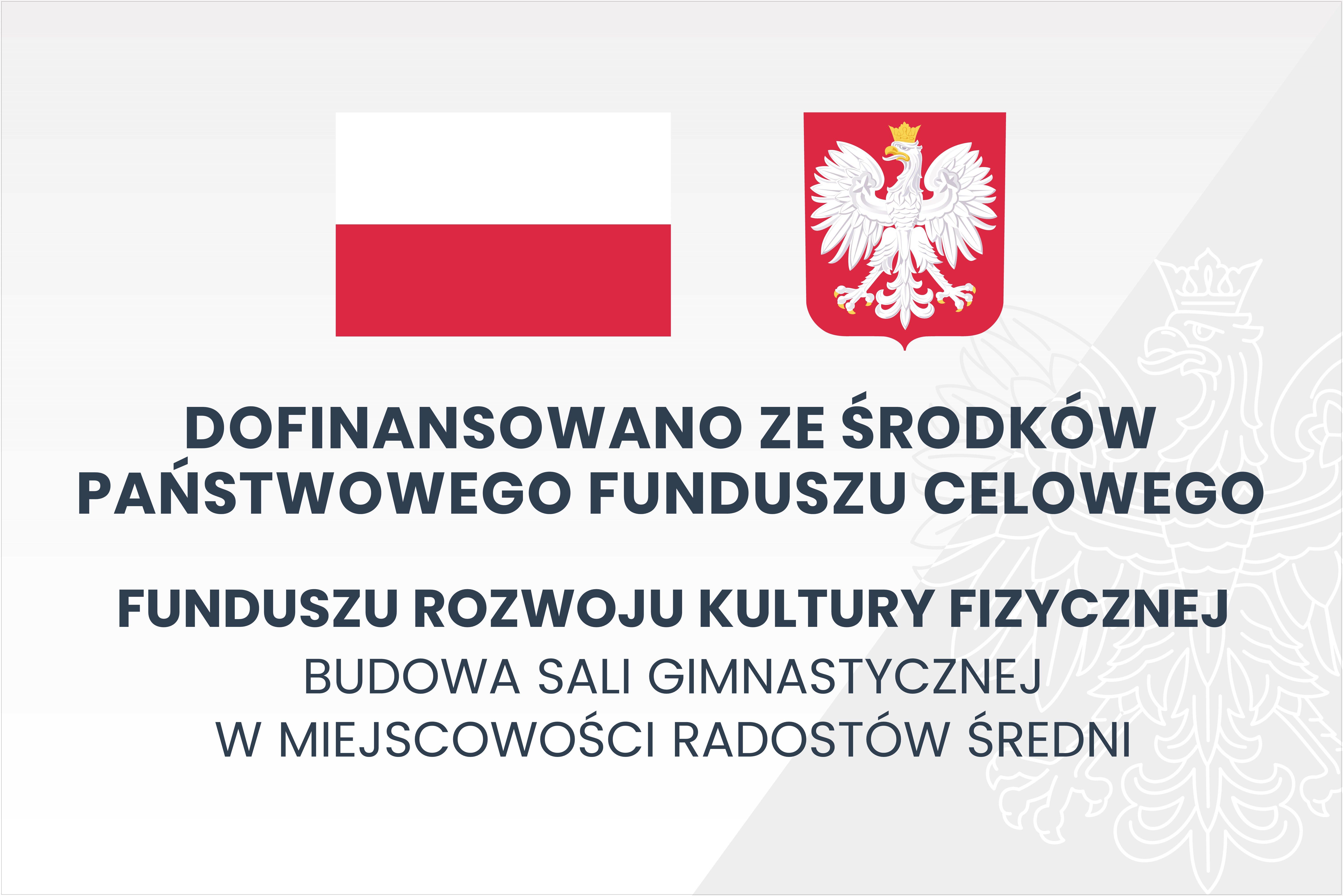 Rozpoczęto realizację inwestycji ze środków Funduszu Rozwoju Kultury Fizycznej w ramach Programu Sportowa Polska- Program Rozwoju Lokalnej Infrastruktury Sportowej