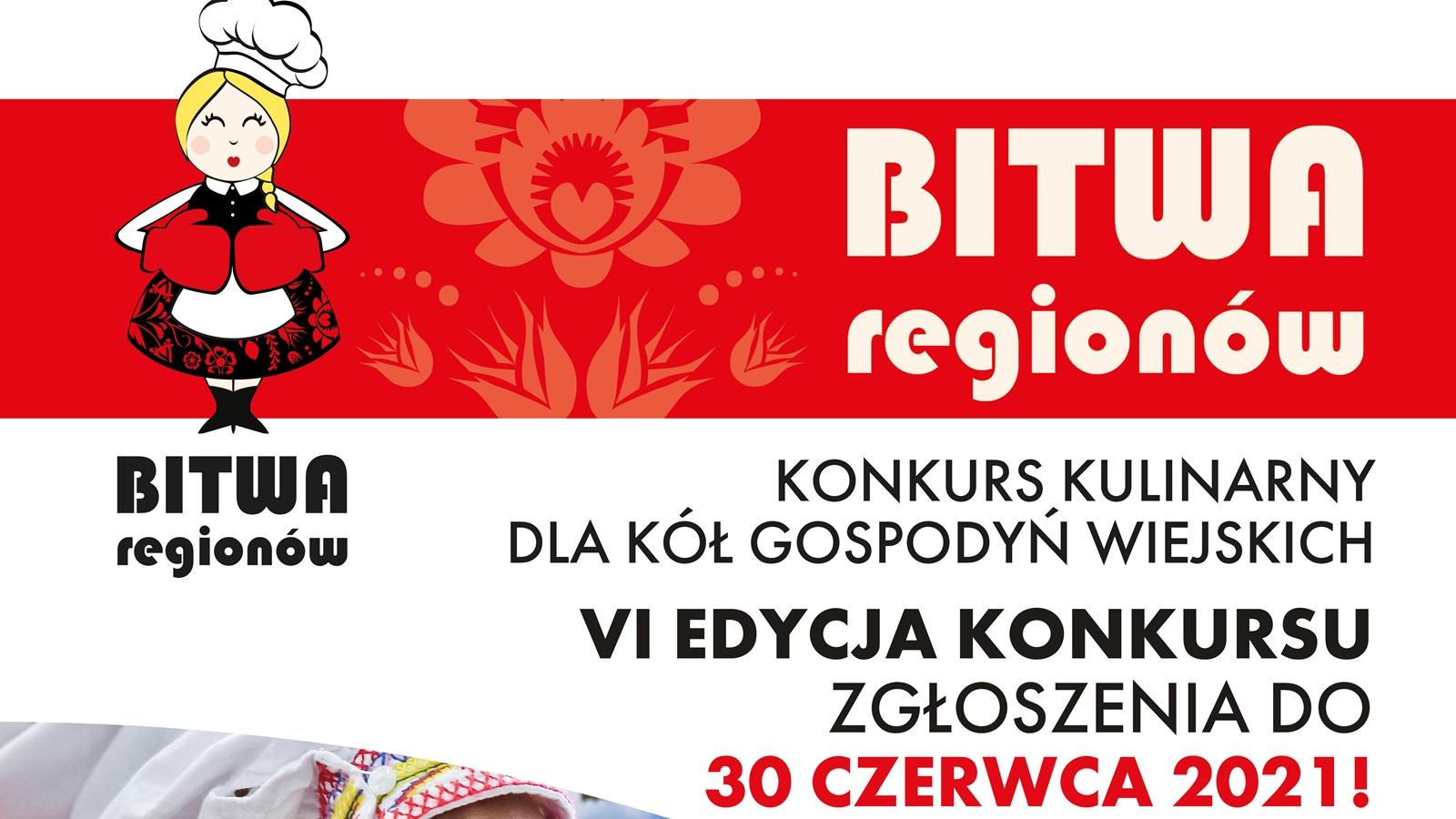 """""""Bitwa Regionów 2021"""" konkurs kulinarny dla kół gospodyń wiejskich"""