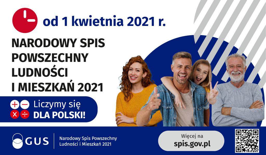 Narodowy Spis Powszechny Ludności i Mieszkań 2021 trwa !!!